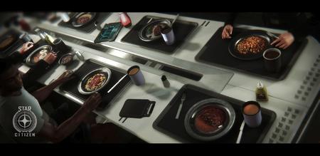 Kadeci podczas posiłku w mesie Idrisa
