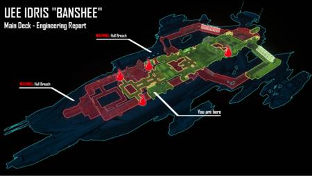 Idris wyświetlacz raport o stanie statku