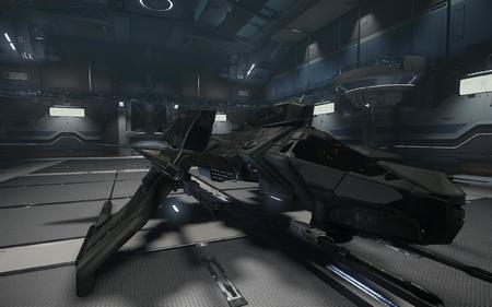 Mustang Delta w hangarze