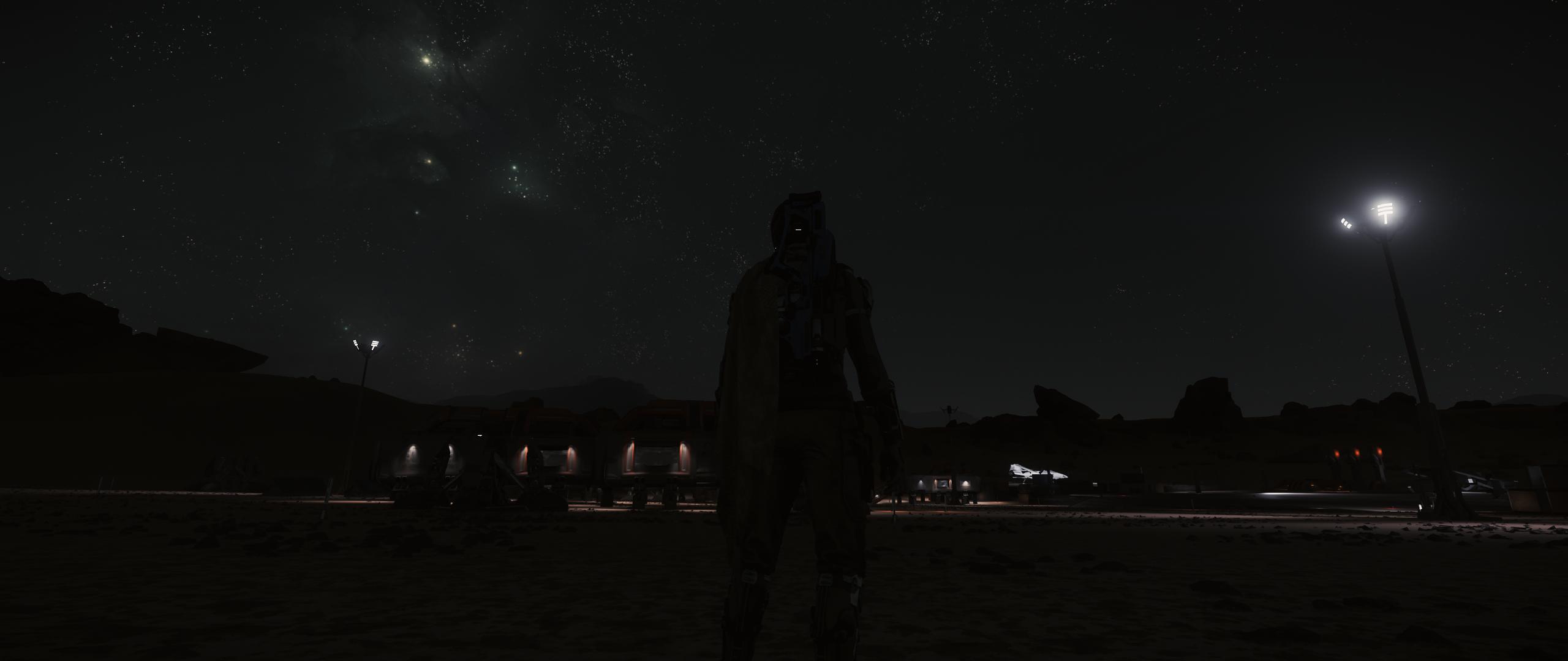 Placówka górnicza na Daymarze nocą