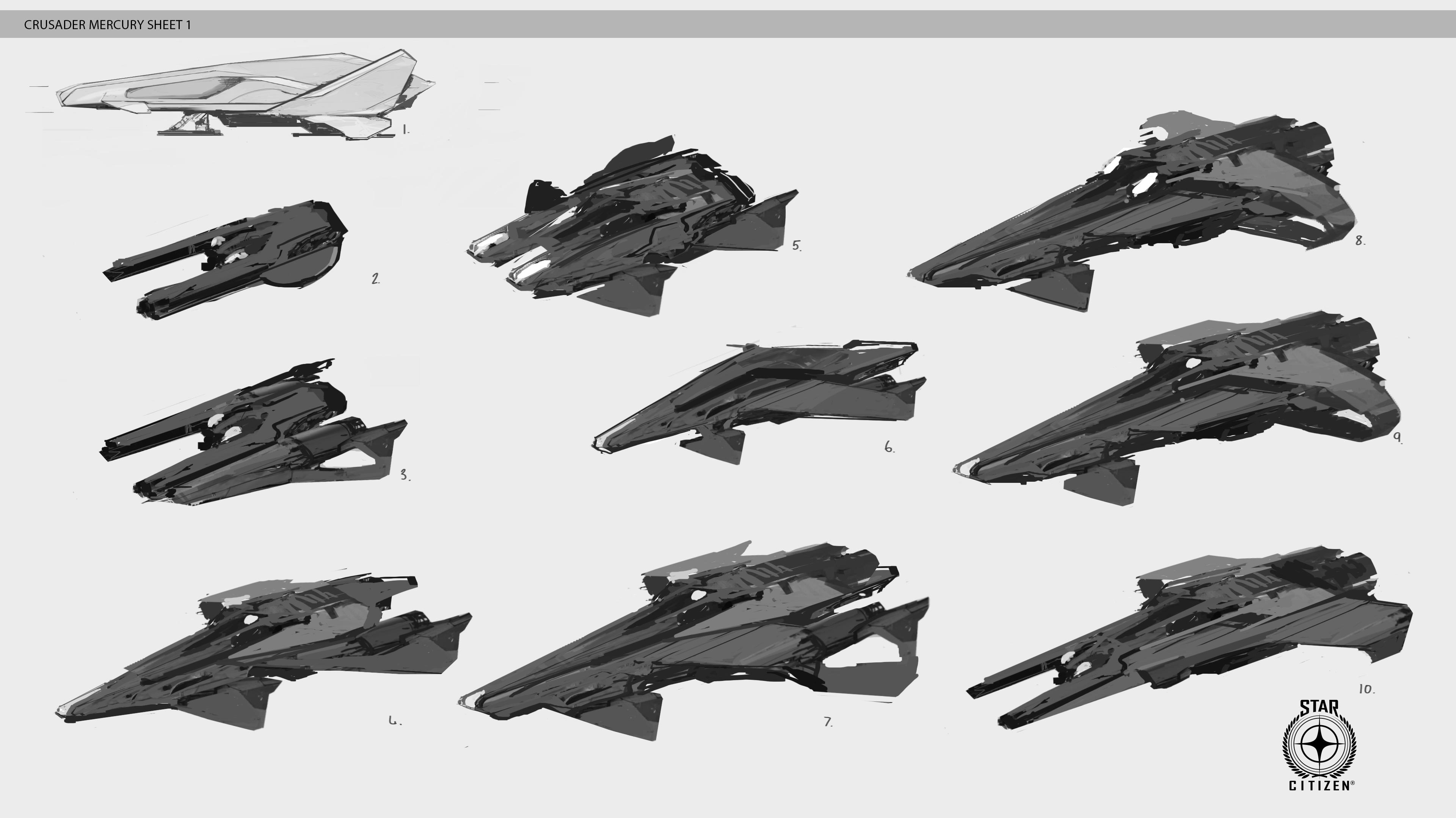 Mercury - wstępne projekty statku