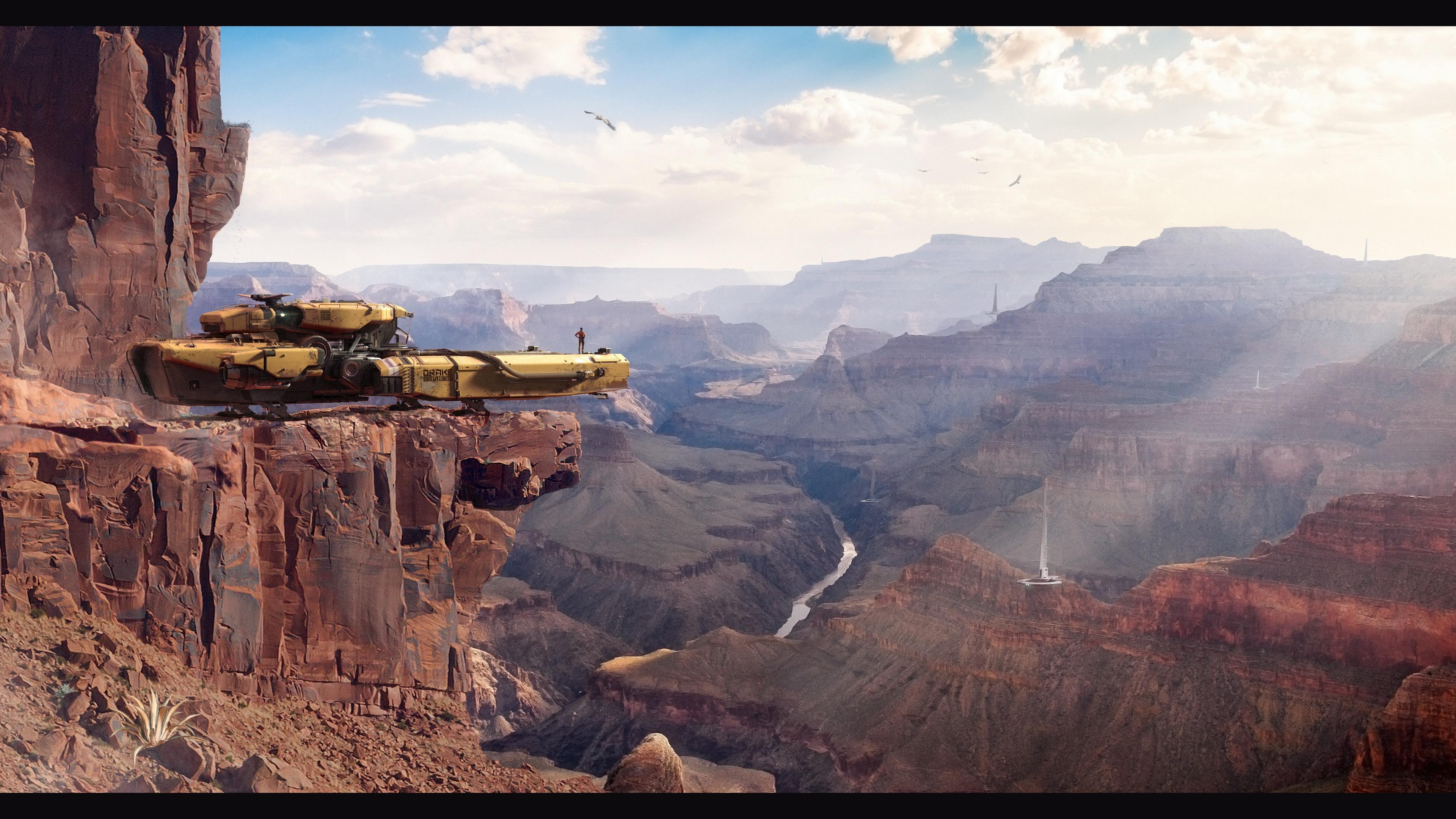 DRAKE Vulture z widokiem na kanion