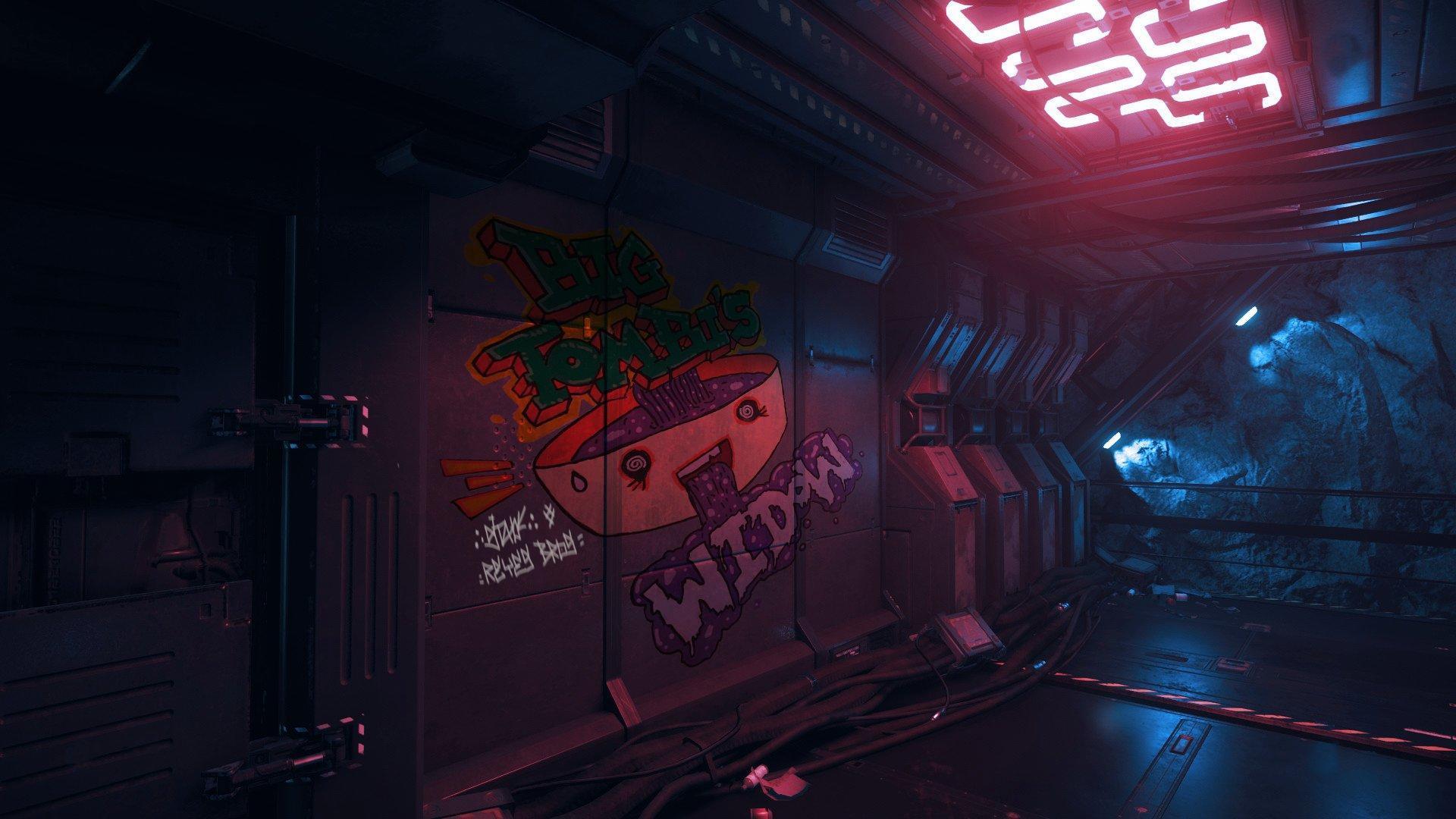 Graffiti na jednej ze stacji kosmicznych
