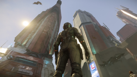 ArcCorp - skyscrappers