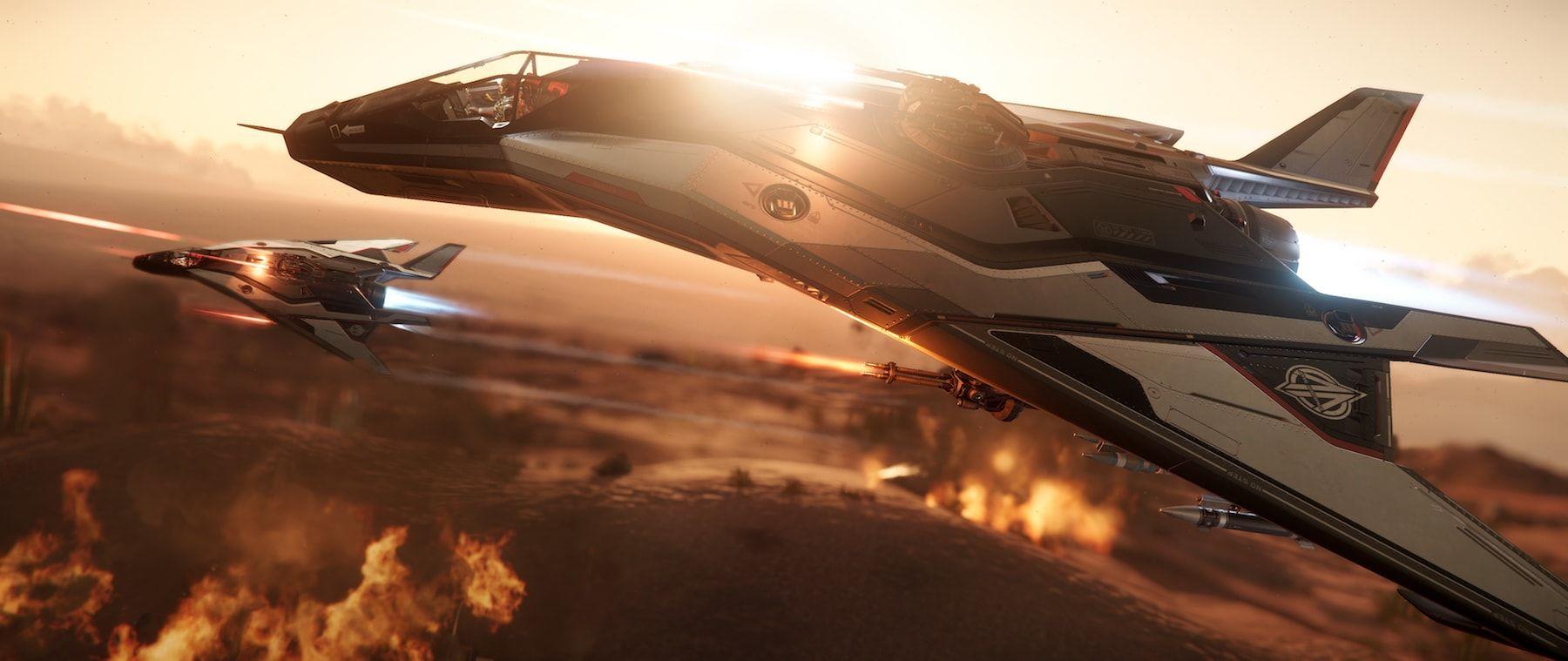 Anvil Aerospace Arrow - lot nad kanionami