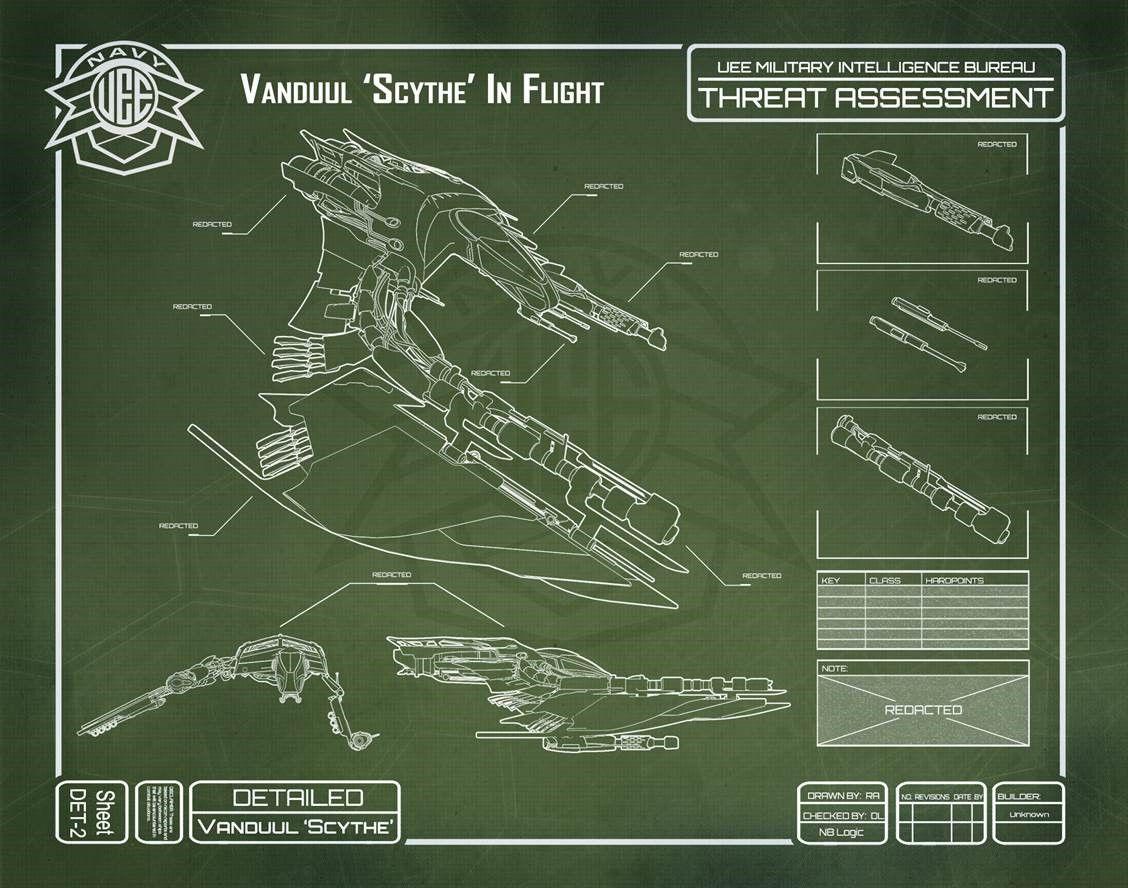 Vanduul Scythe - blueprint