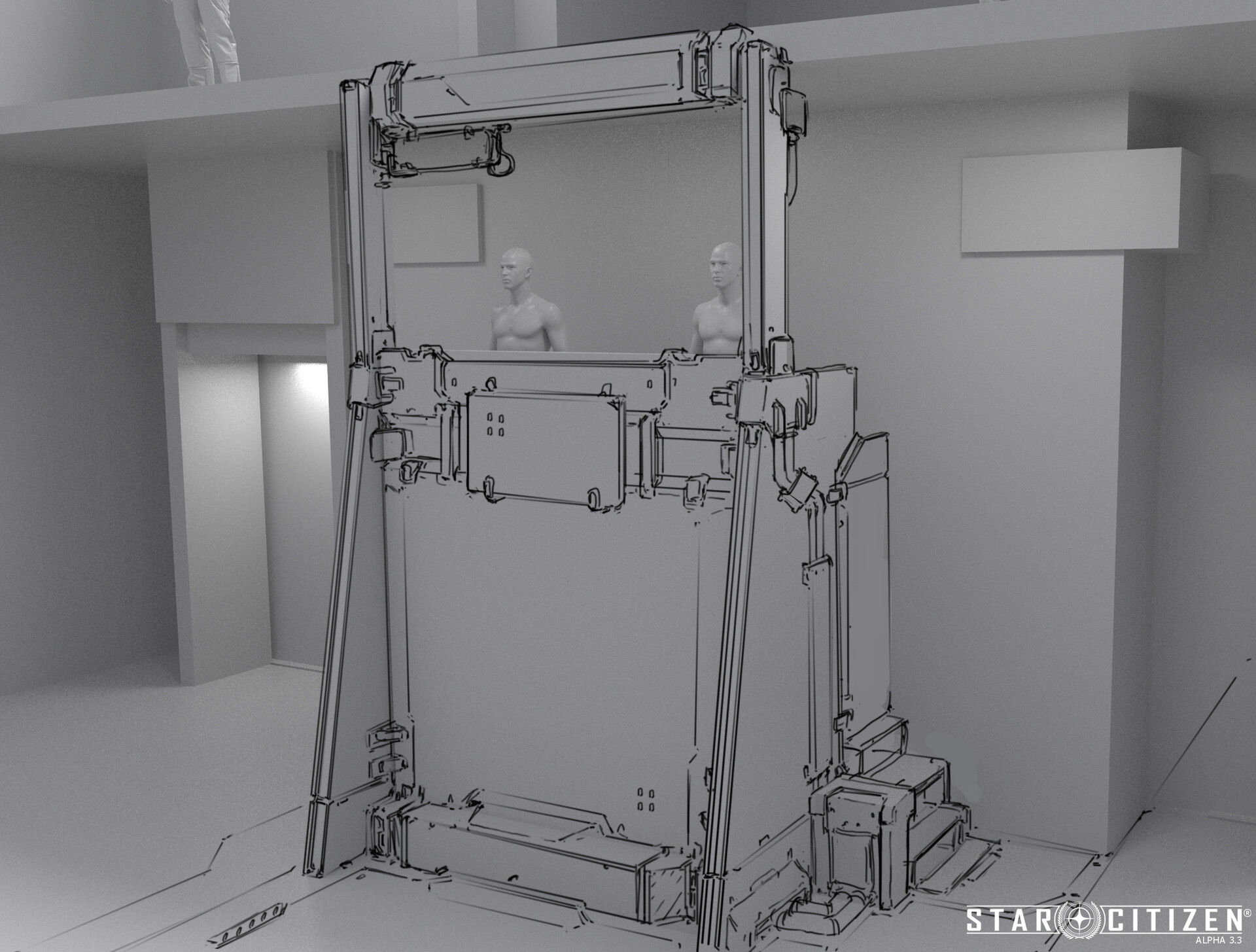 Ściana modularna - koncept 01