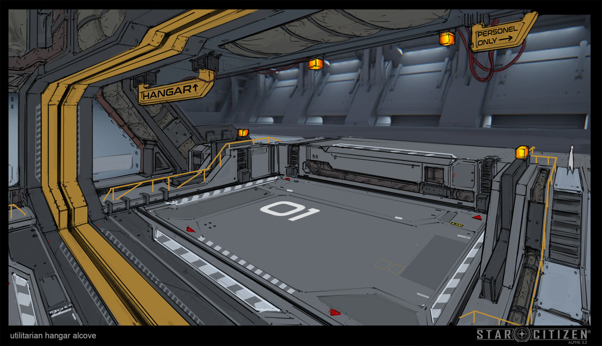 Hangar wnękowy - koncept 03