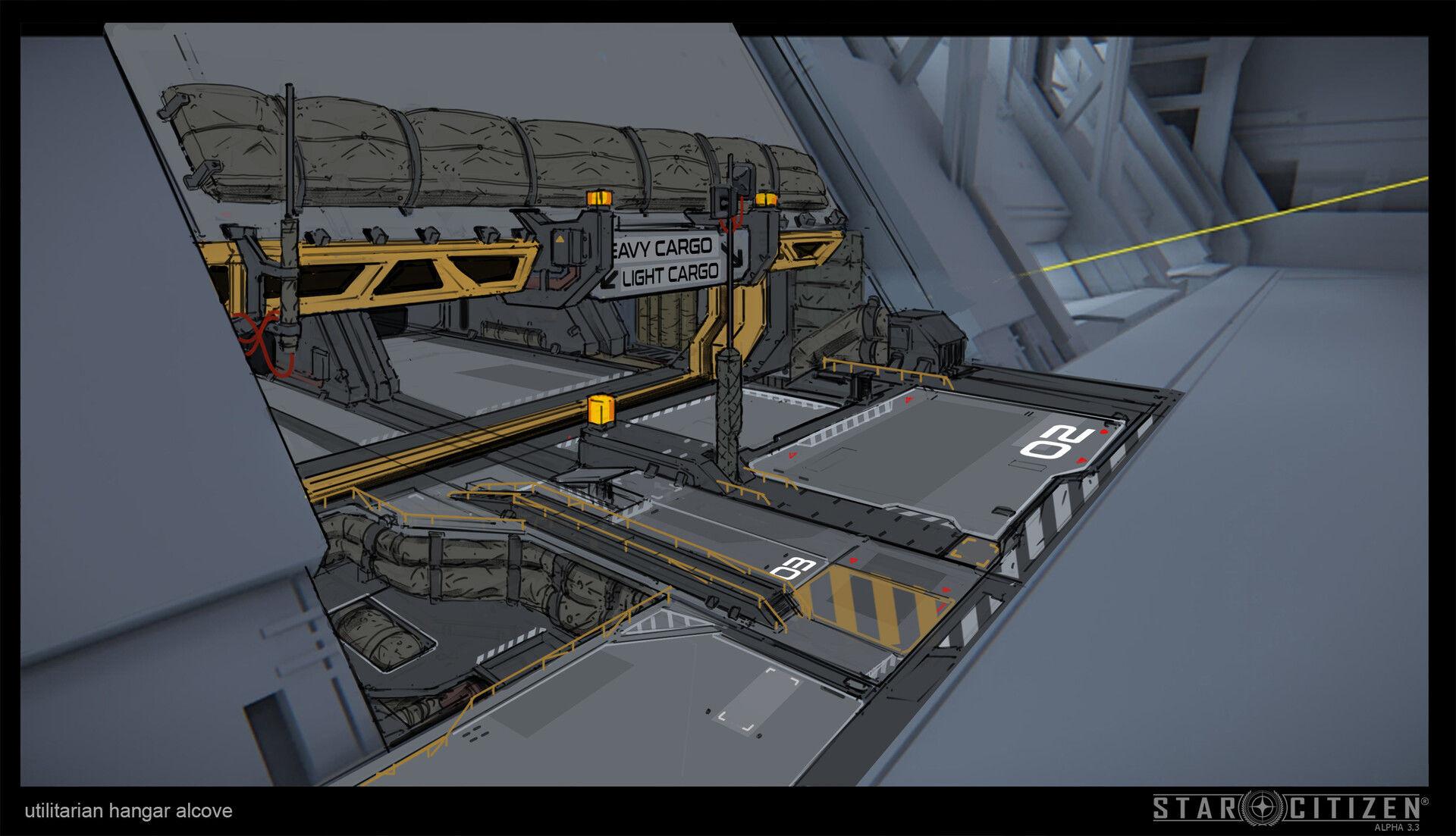 Hangar wnękowy - koncept 02
