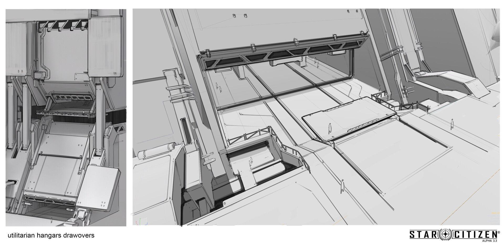 Hangar wnękowy - koncept 01