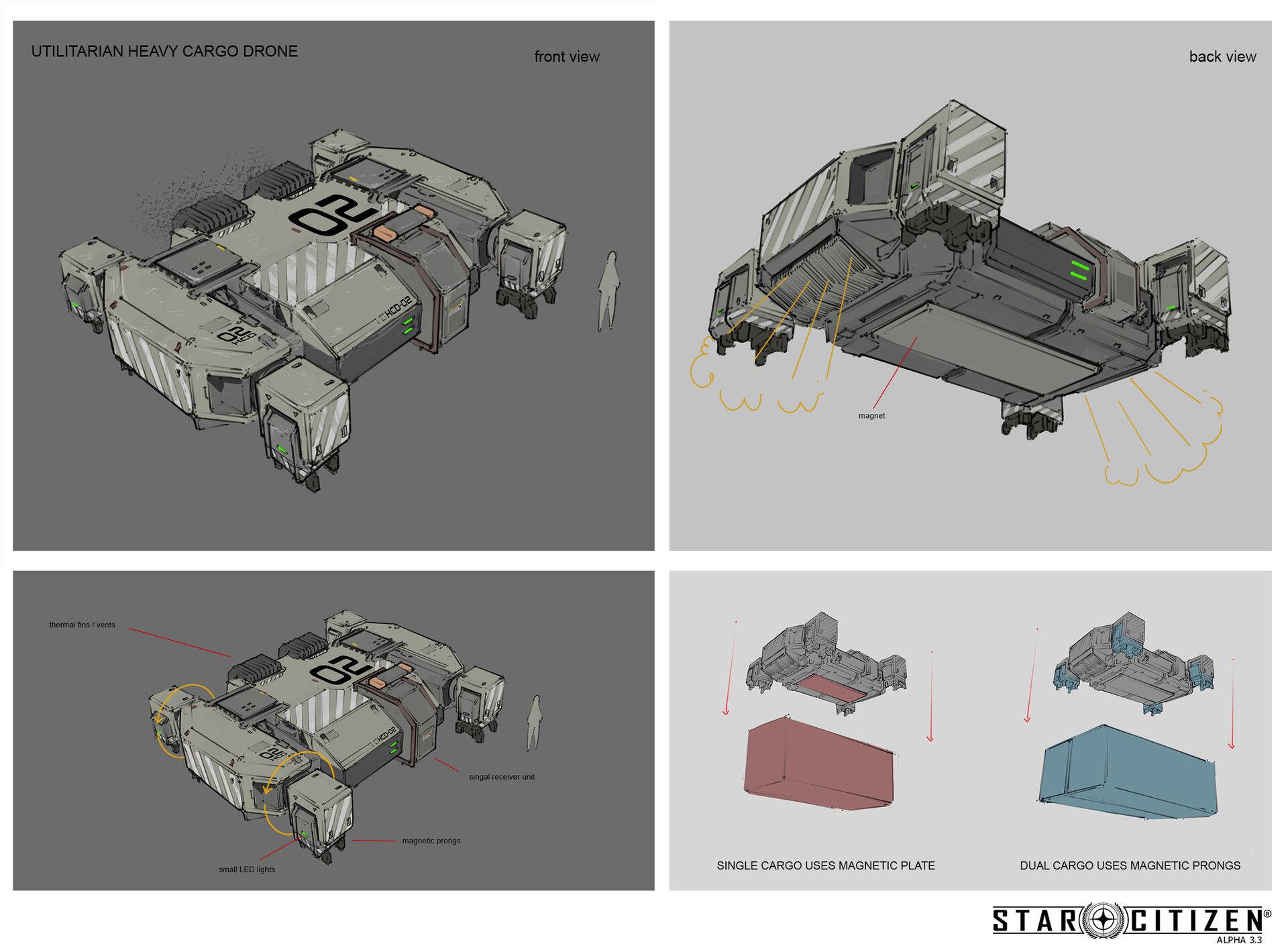 Ciężki dron transportowy - koncept