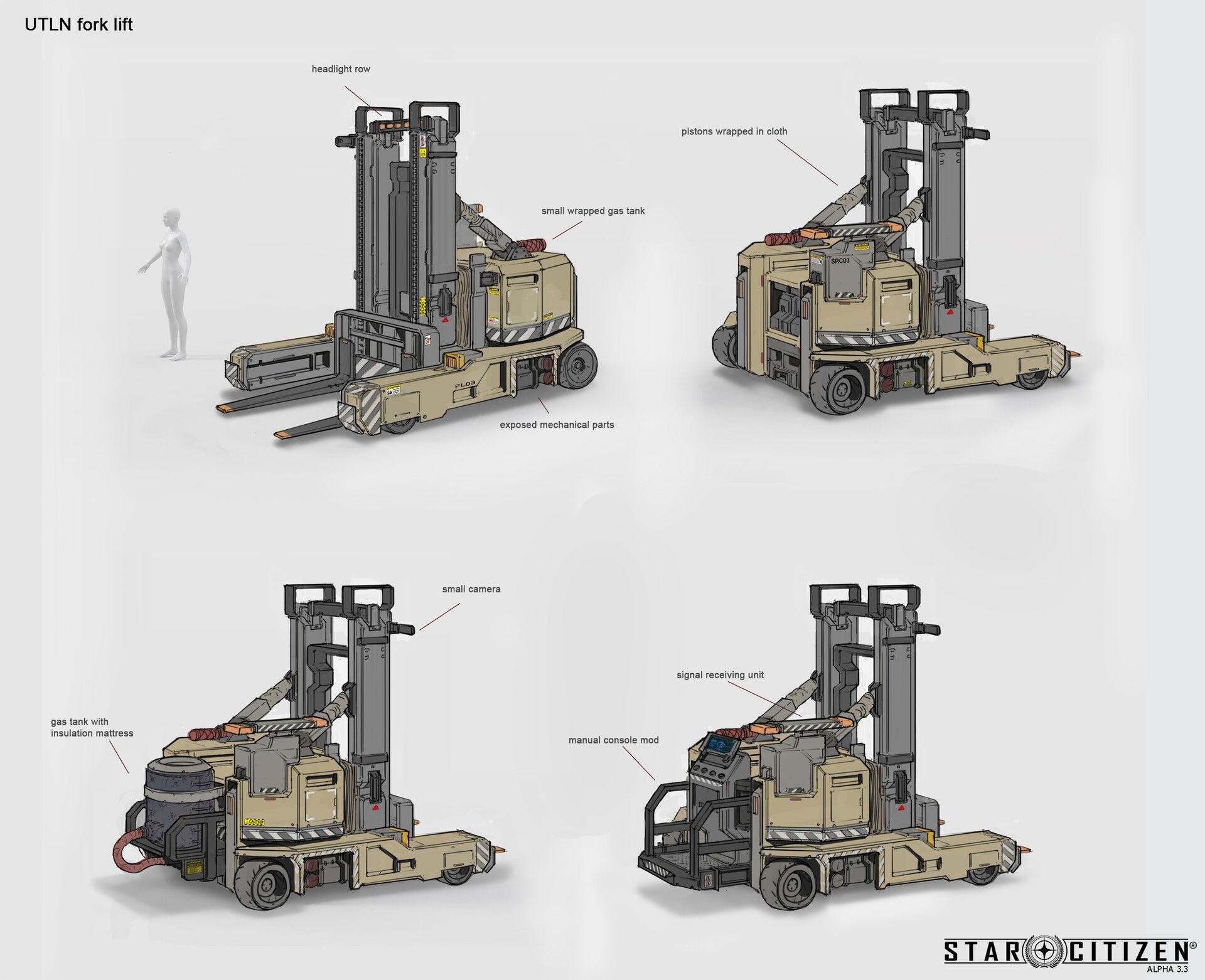 Wózek widłowy - koncept 01