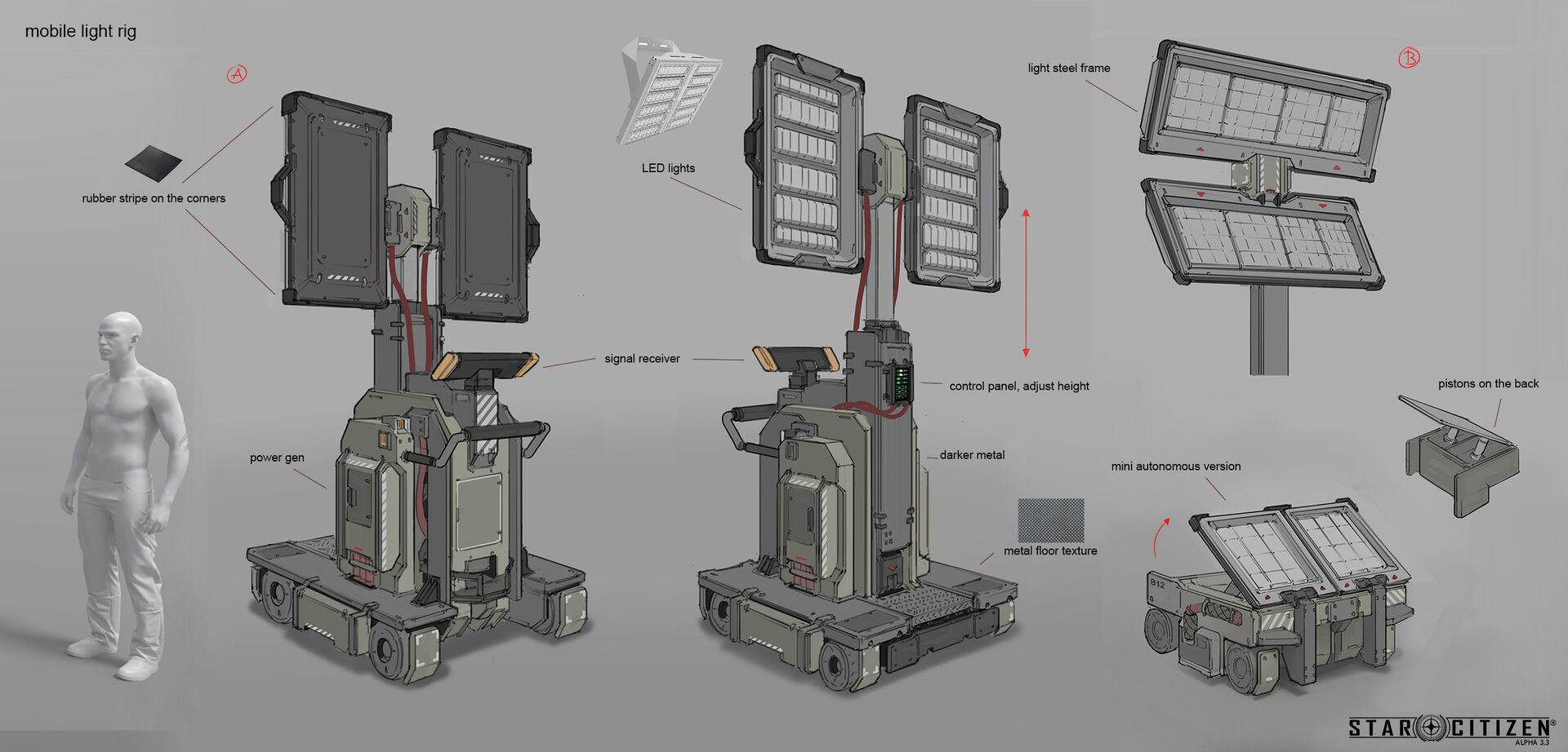 Mobilny halogen - koncept 01