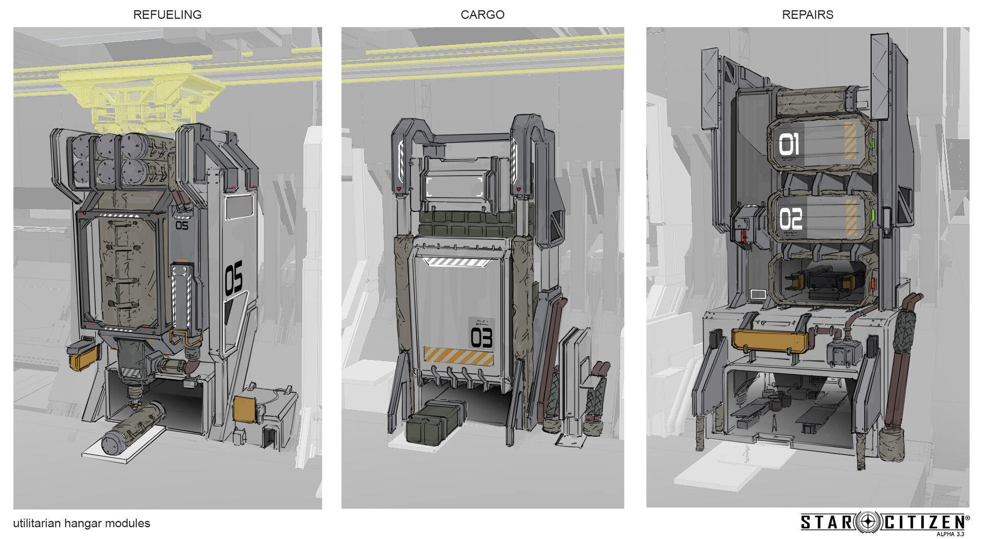 Hangar modułowy - koncept 01