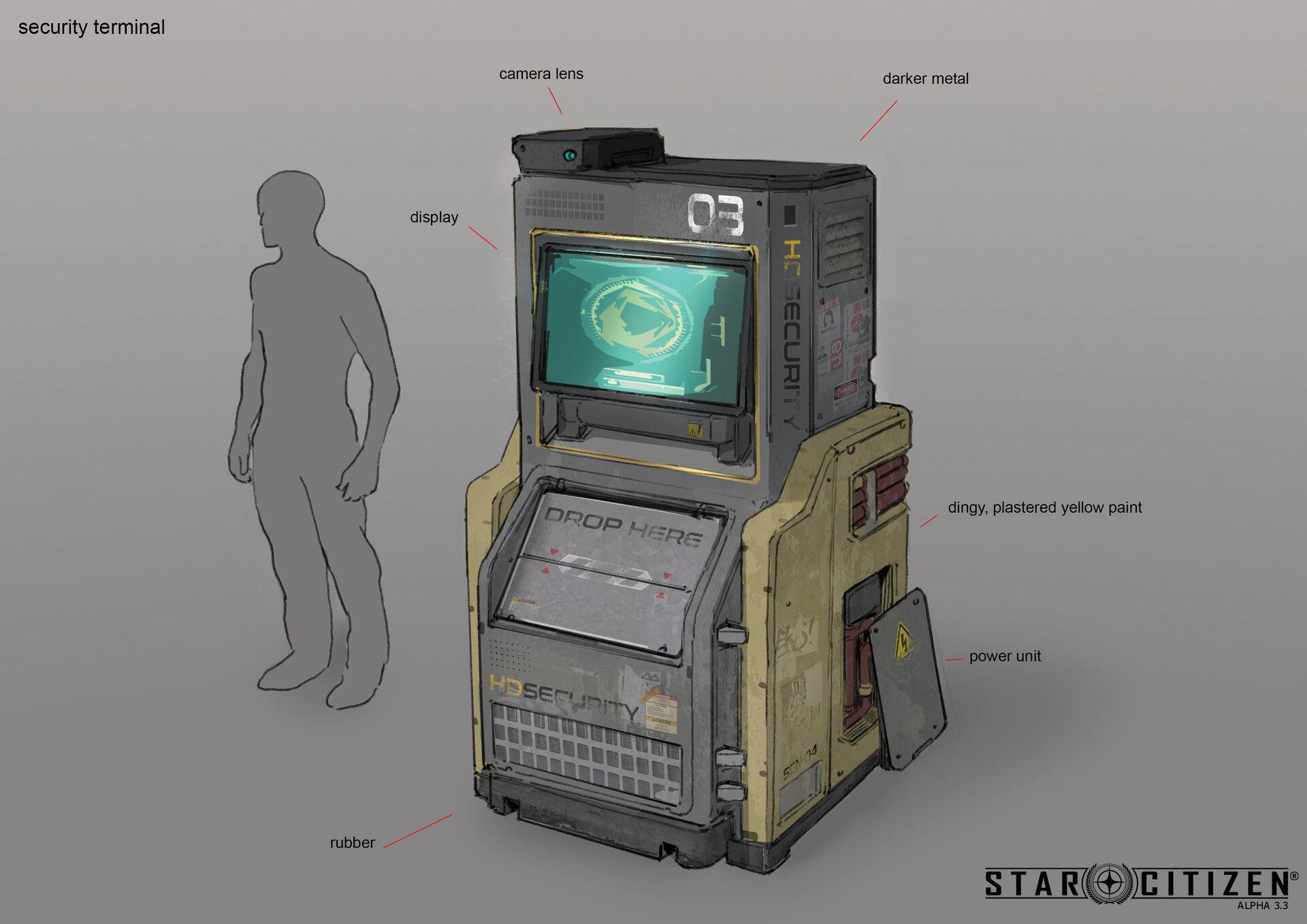 Terminal ochrony - koncept 01