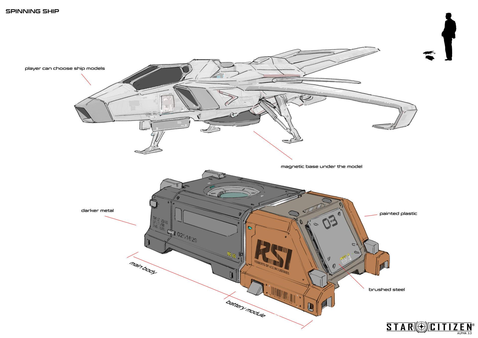 Spining ship - koncept