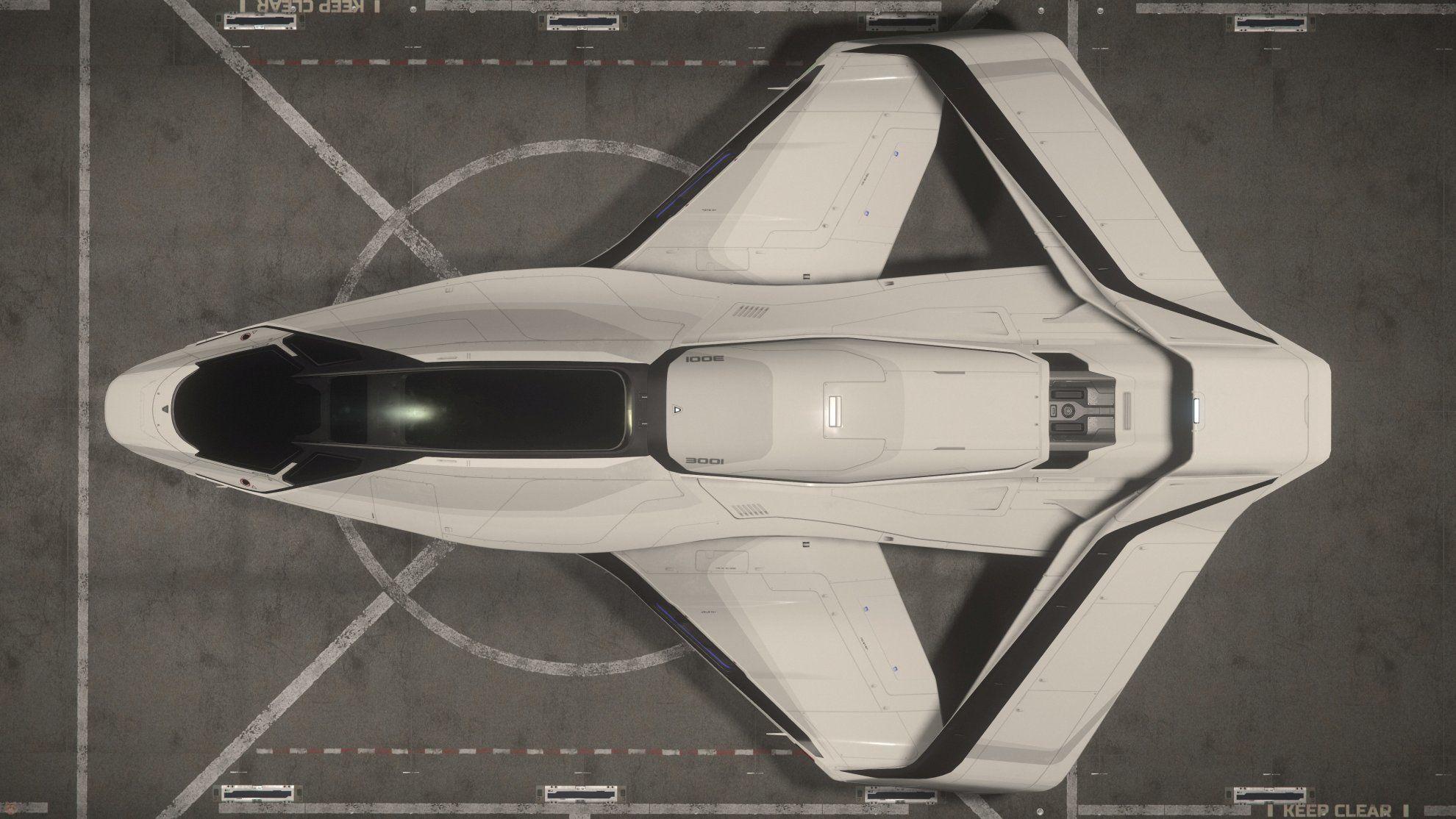 Origin 300i w hangarze SelfLand - widok z góry