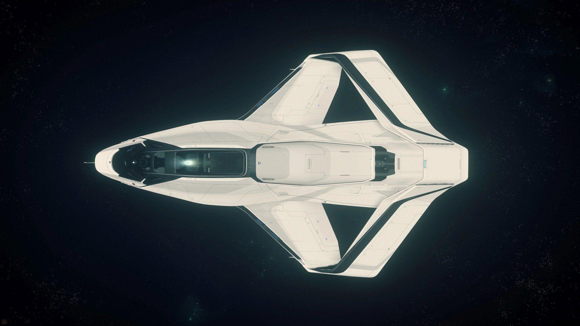 Origin 300i w kosmosie - widok z góry