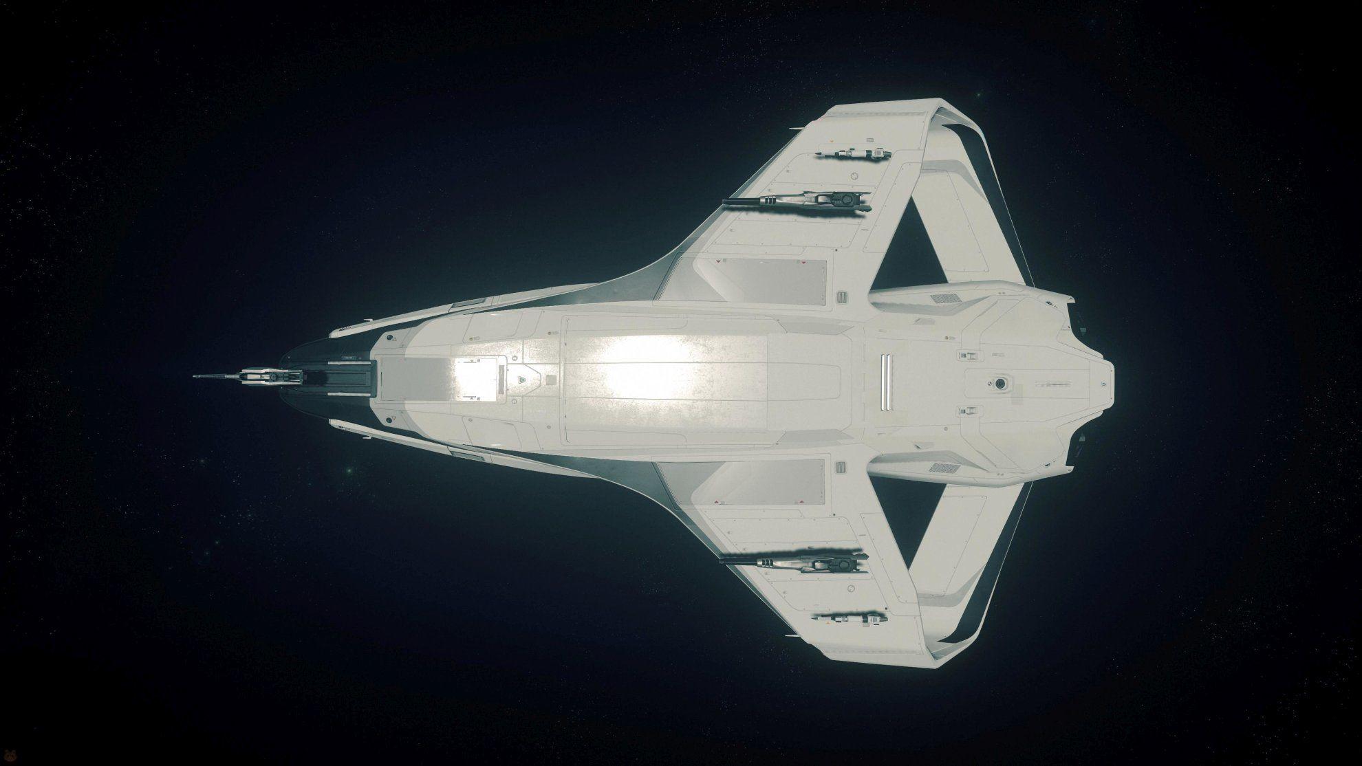 Origin 300i w kosmosie - widok od spodu