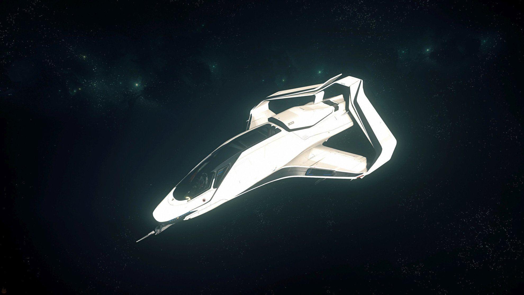 Origin 300i w kosmosie - widok izometryczny