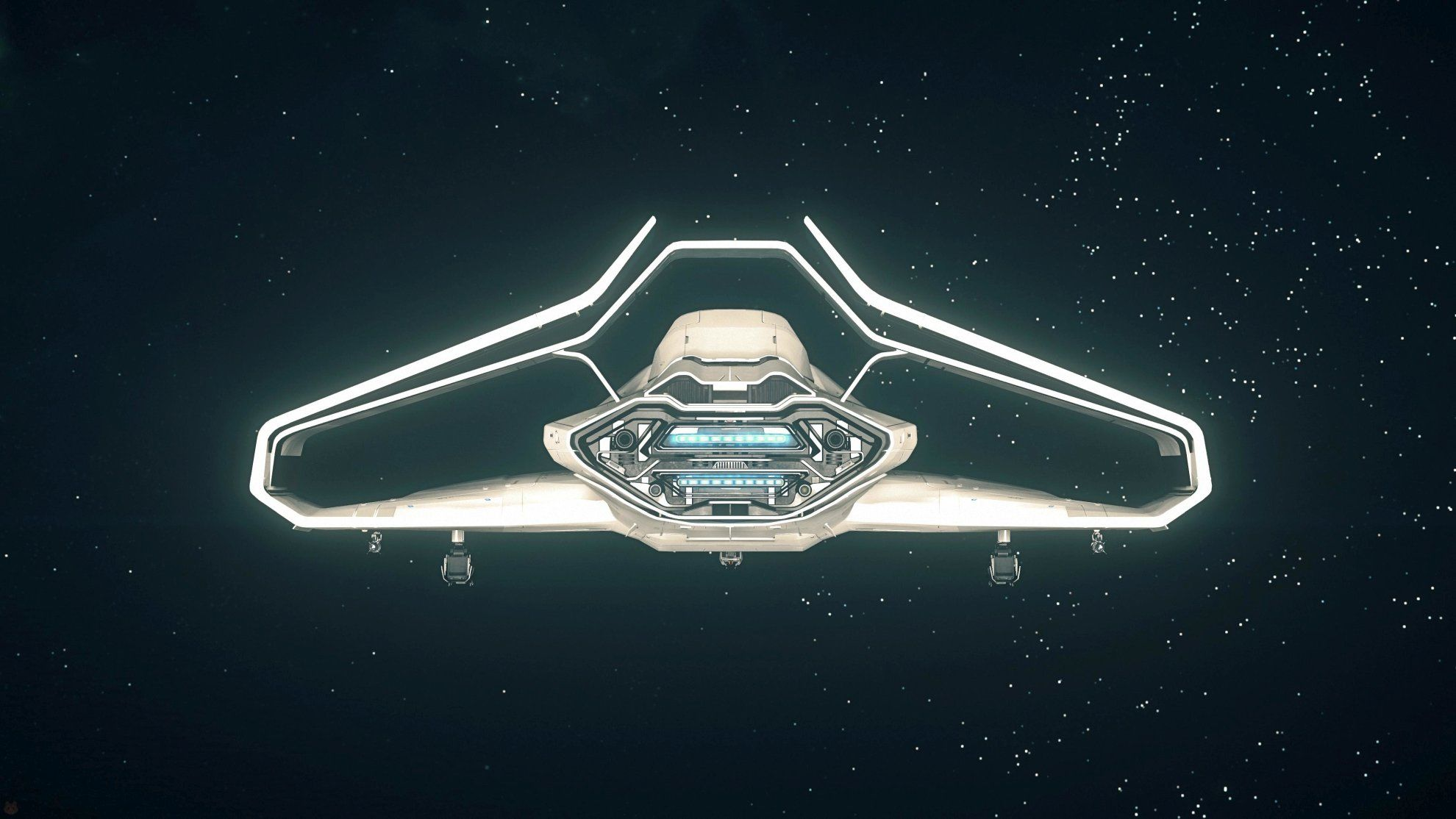Origin 300i w kosmosie - widok od tyłu