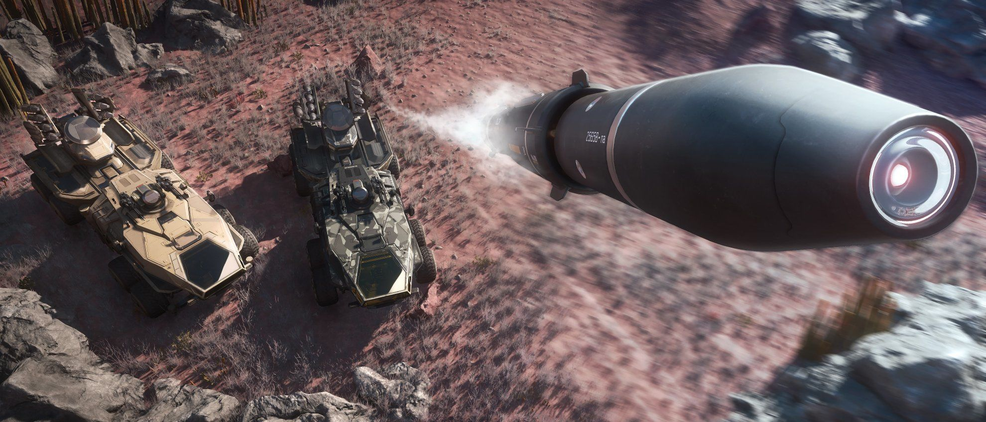 Anvil Ballista wystrzelający pocisk rakietowy