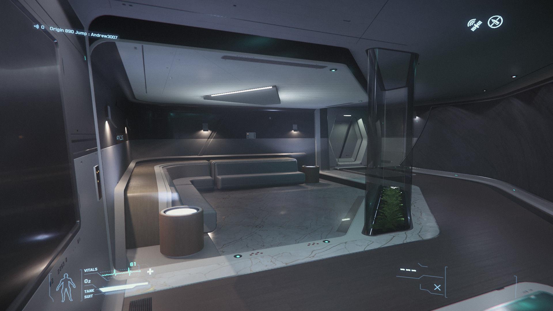 Origin 890 Jump | sala wypoczynkowa dla załogi